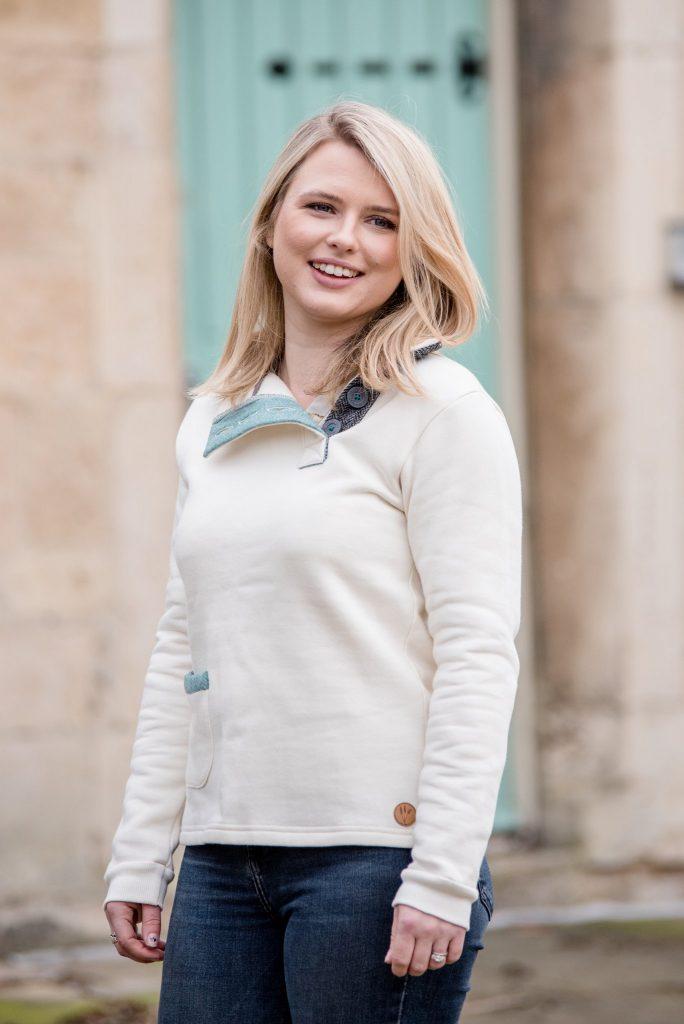 Touch of Tweed - Cream organic cotton sweatshirt - Somerset