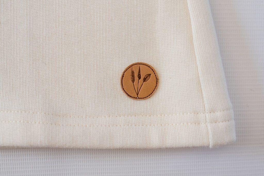 Touch of Tweed- Cream Organic Cotton Sweatshirt - Somerset