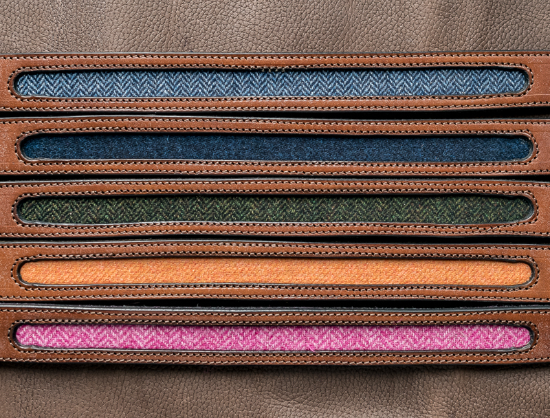 Tweed and leather belt - Touch of Tweed - Somerset