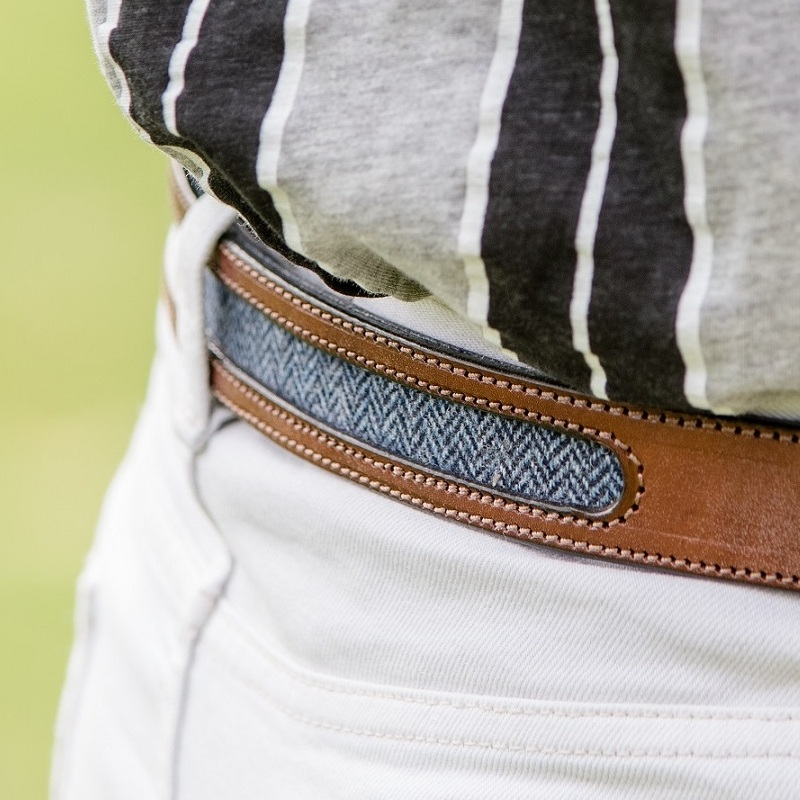 Touch of Tweed - Tweed and Leather belt-Somerset
