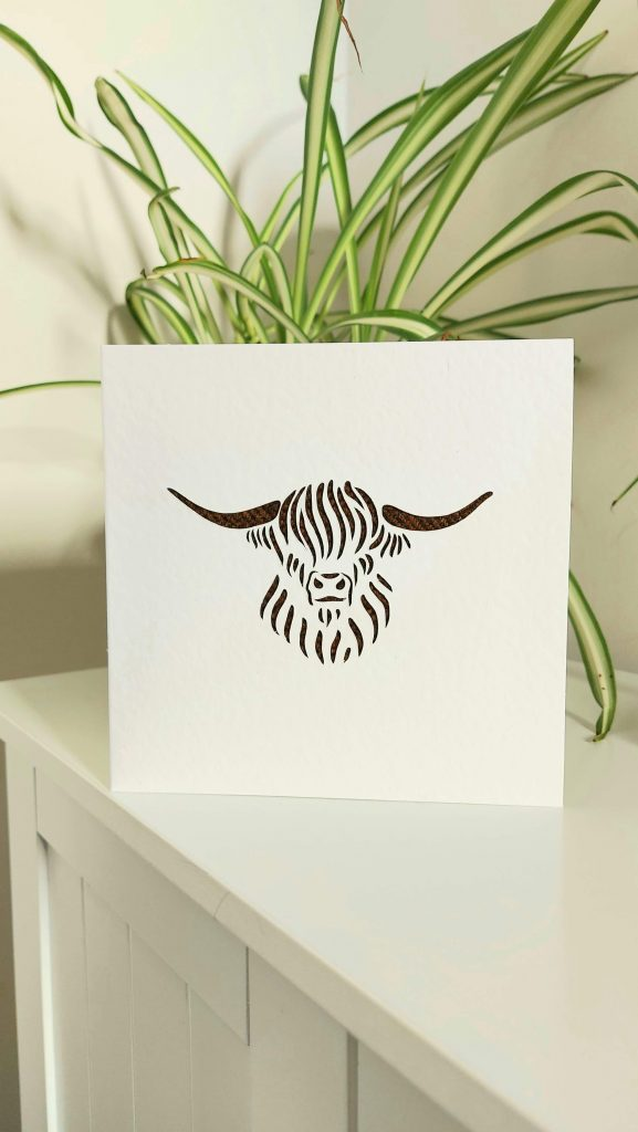 Touch of Tweed- Tweed Highland Cow Card - Somerset