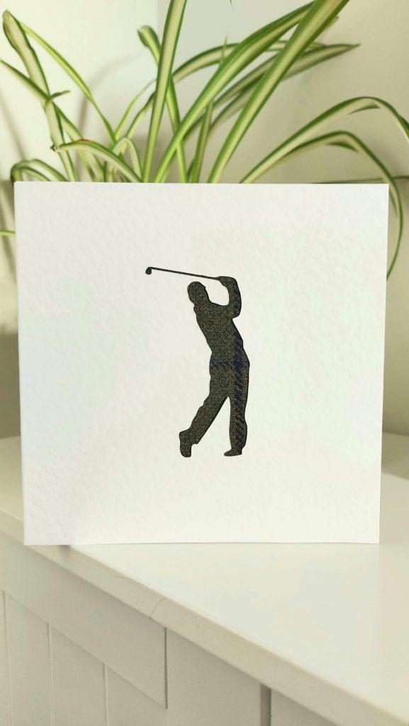 Touch of Tweed - Tweed Golfer Card - Somesrset