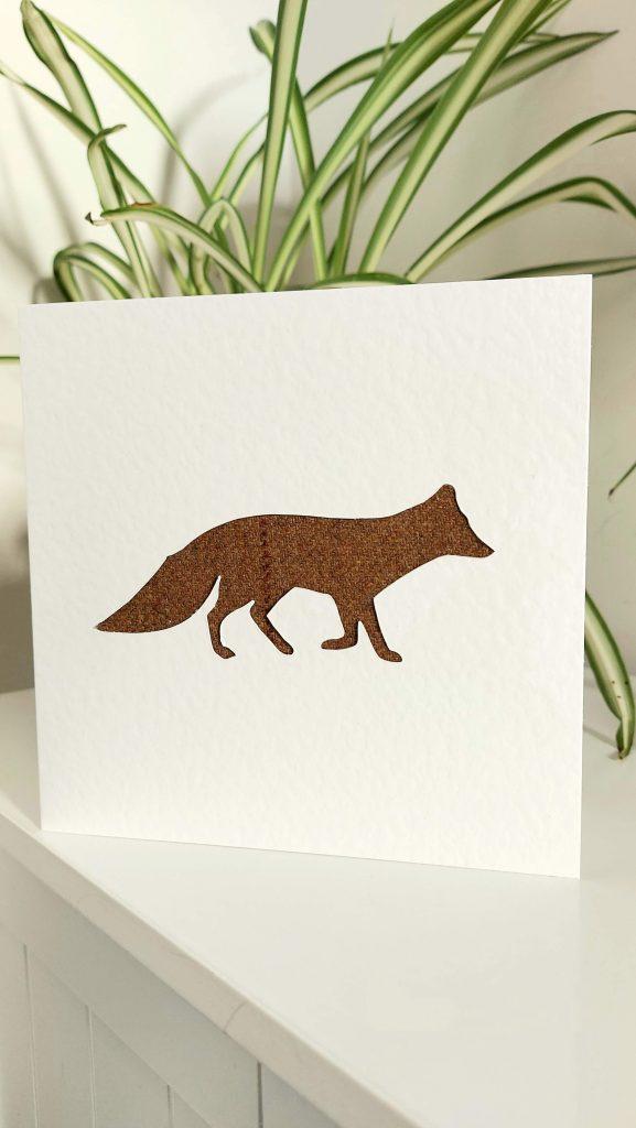 Touch of Tweed - Tweed Fox Card-Somerset