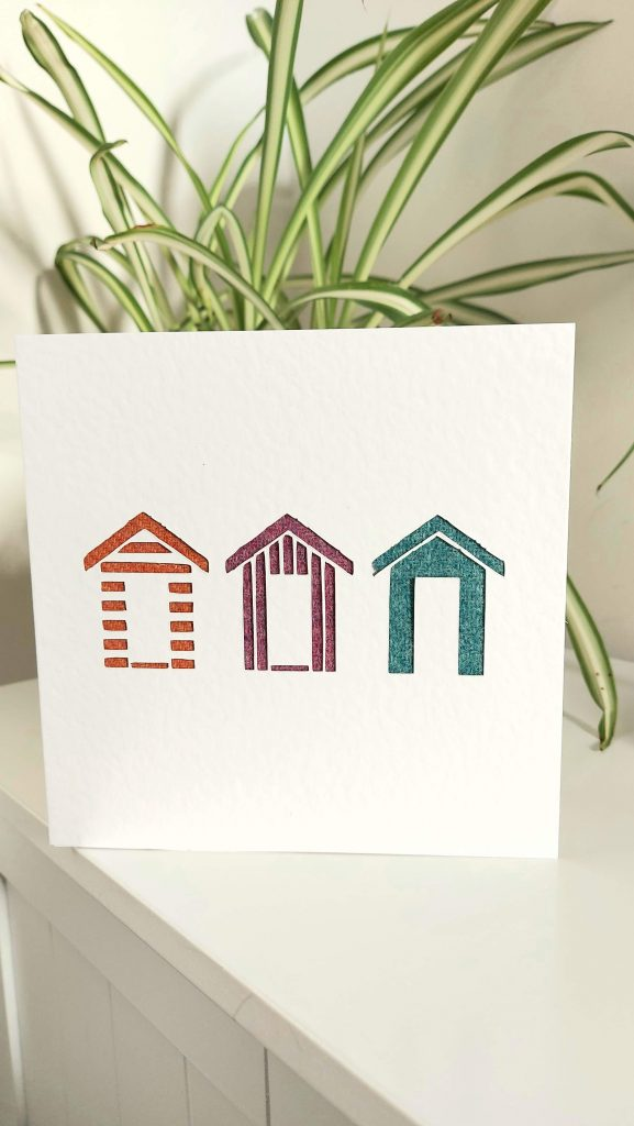 Touch of Tweed- Tweed Beach Huts Card- Somerset