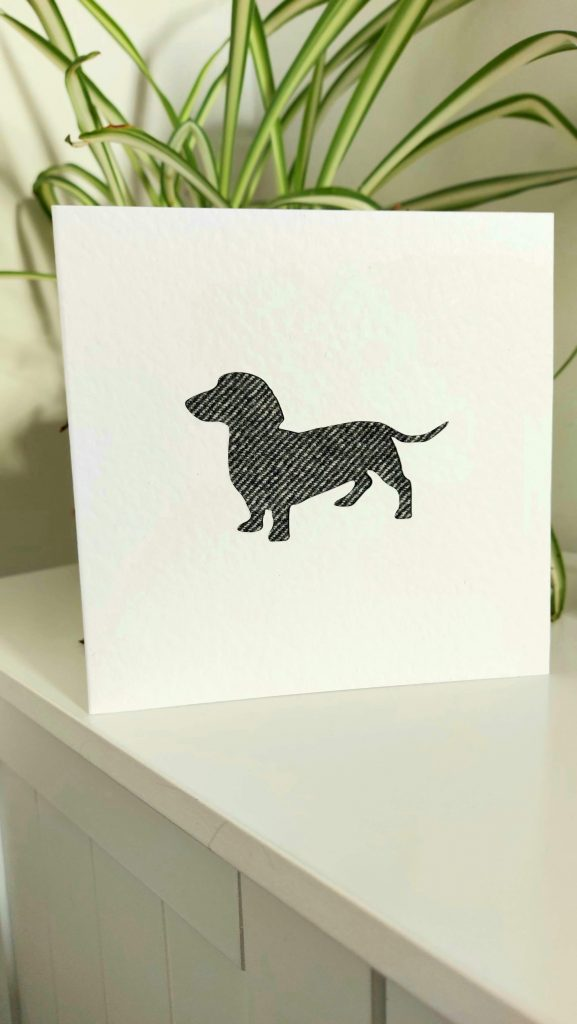 Touch of Tweed - Sausage Dog Tweed Card - Somerset