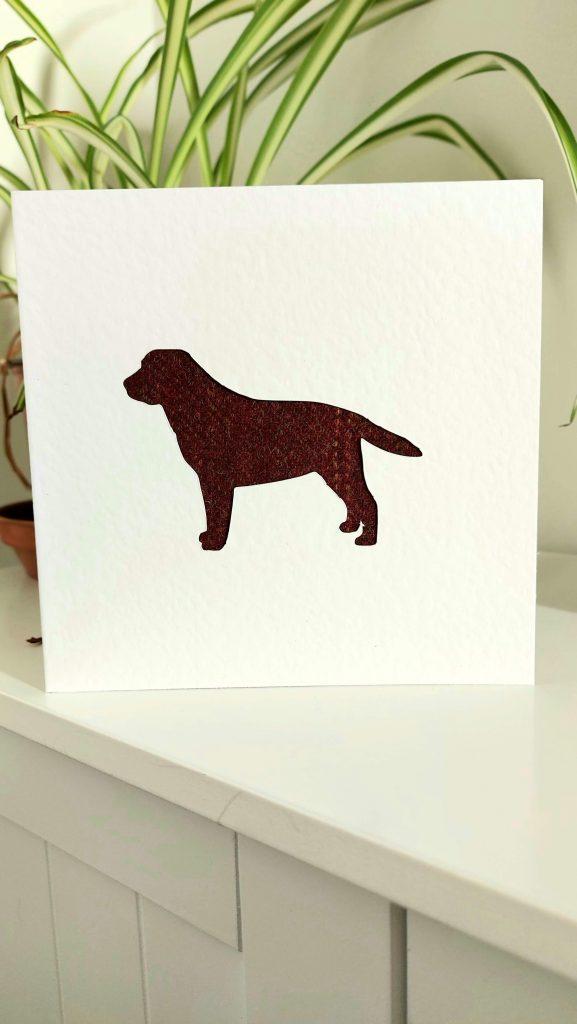 Touch of Tweed - tweed labrador card-Somerset