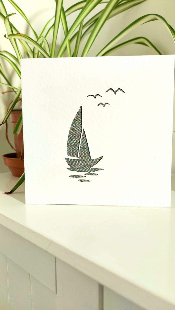 Touch of Tweed - tweed boat card- Somerset