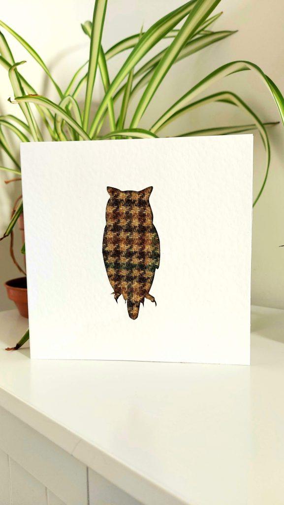 Touch of Tweed - tweed owl card-Somerset