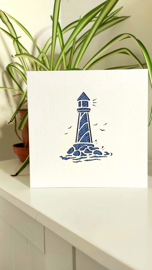 Touch of Tweed - Tweed Lighthouse card-Somerset