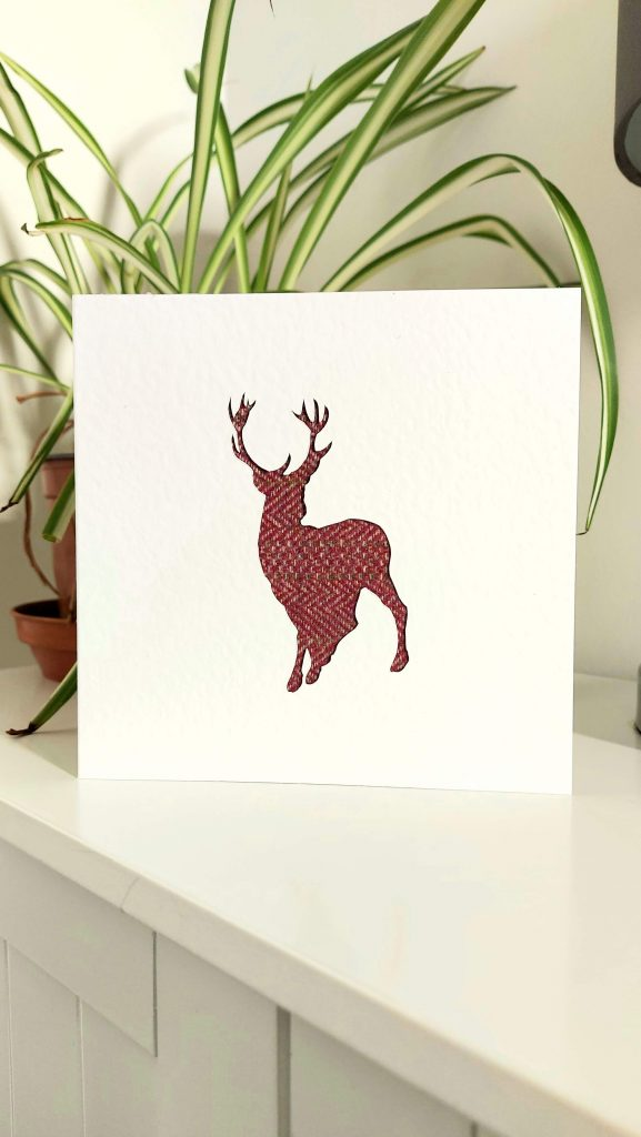 Touch of Tweed- tweed stag card-Somerset
