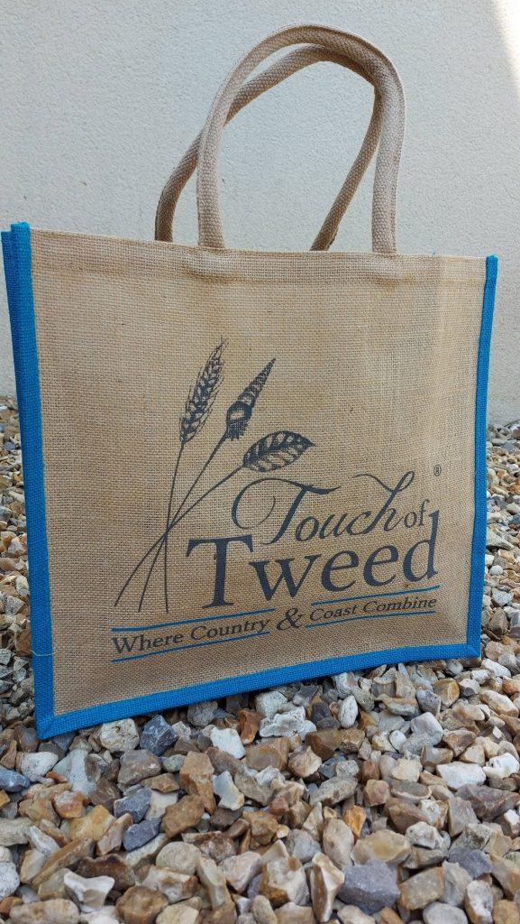 Touch of Tweed - Reusable Jute Bag-Somerset
