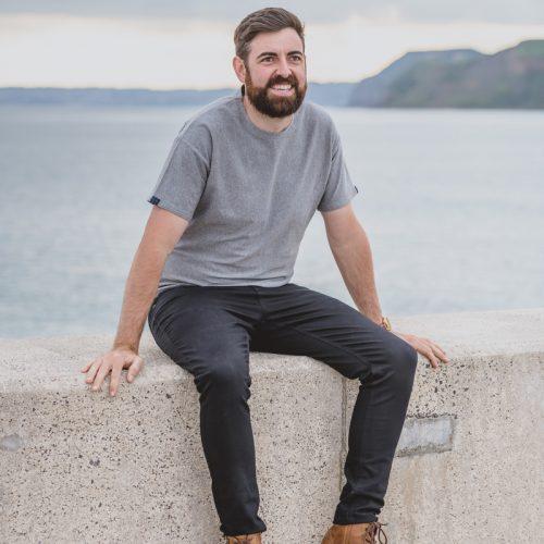 Touch of Tweed- grey organic cotton t-shirt - Dorset