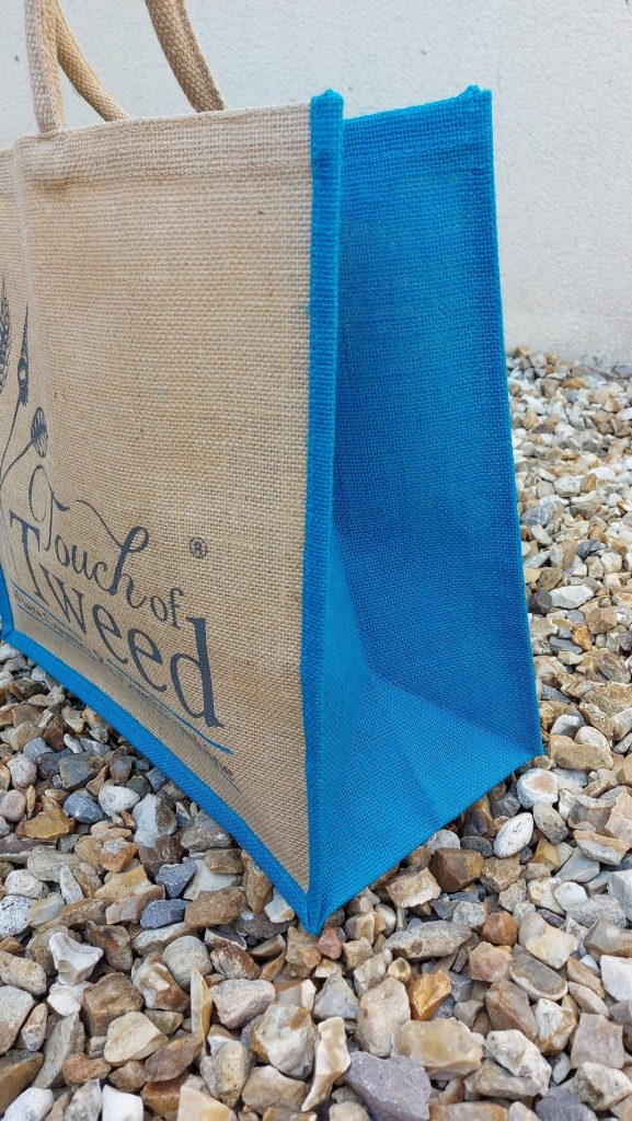Touch of Tweed - Turquoise reusable bag- Somerset