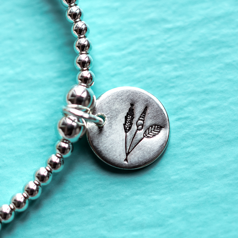 Sterling Silver beaded bracelet- Touch of Tweed - Somerset - UK