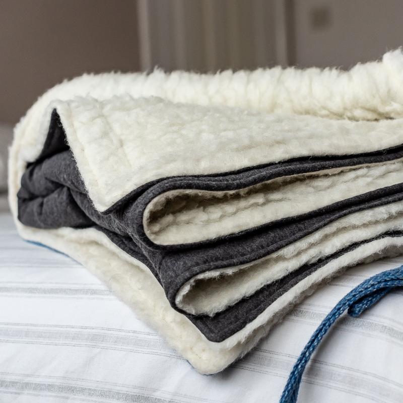 Wool fleece Blanket - Touch of Tweed - Somerset