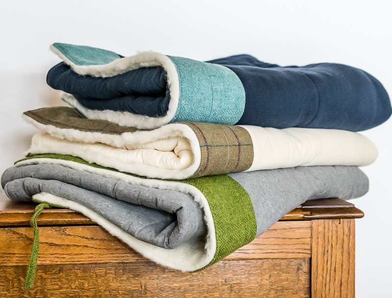 tweed and cotton blankets - Touch of Tweed - Somerset