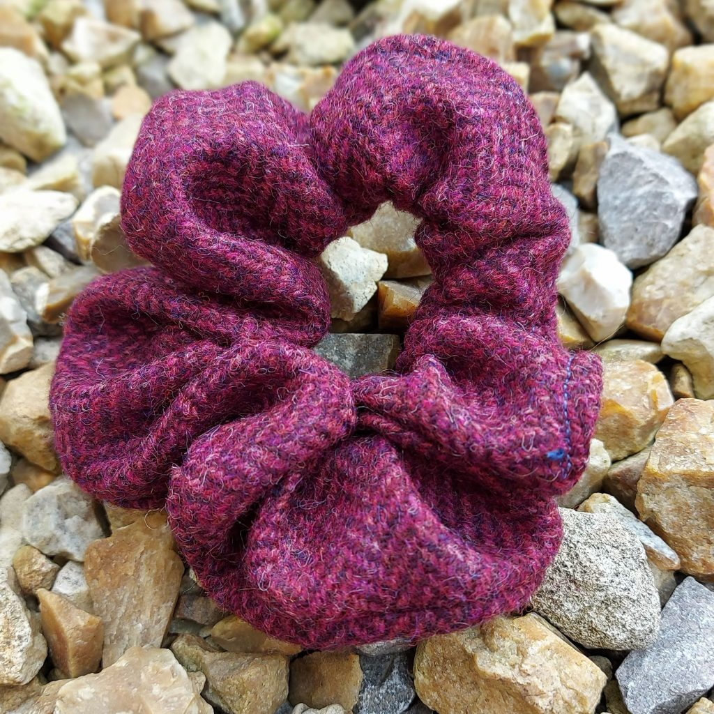 Purple Tweed Scrunchie - Touch of Tweed - Somerset