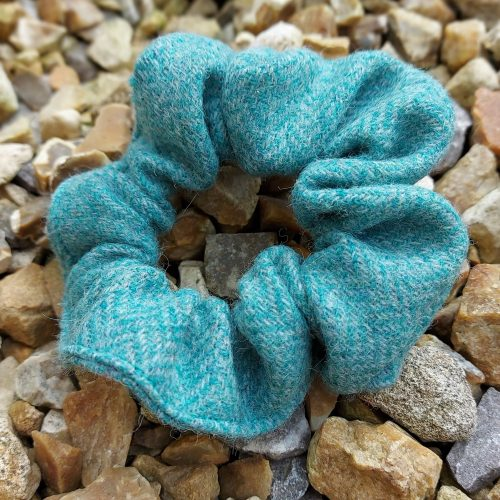 Turquoise Tweed Scrunchie - Touch of Tweed - Somerset