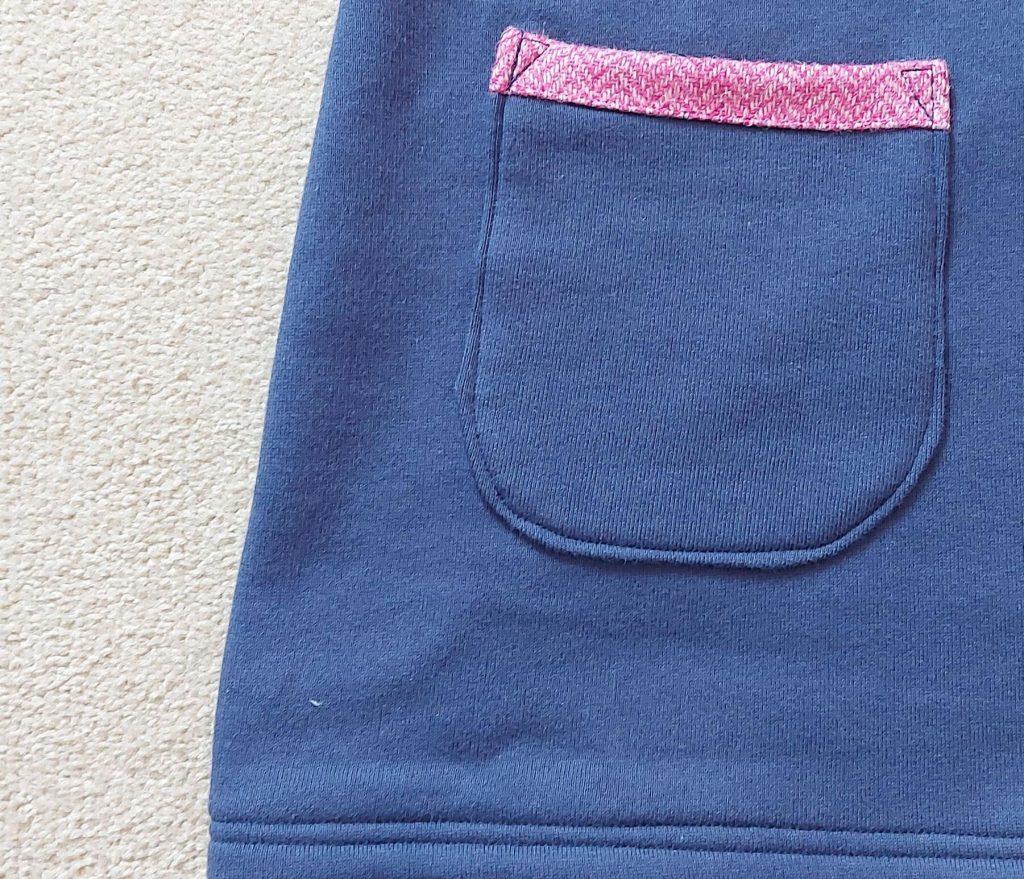 Touch of Tweed pink tweed sweatshirt pocket