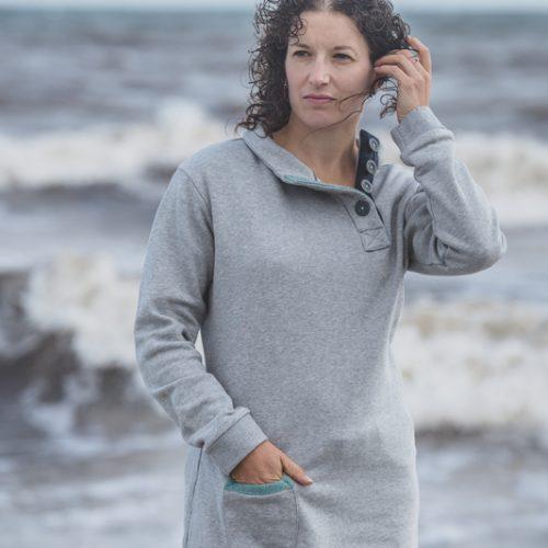 Touch of Tweed - Grey Organic Halden Sweatshirt - Dorset