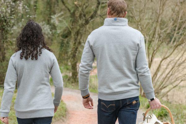 Touch of Tweed-light grey organic cotton sweatshirt-somerset