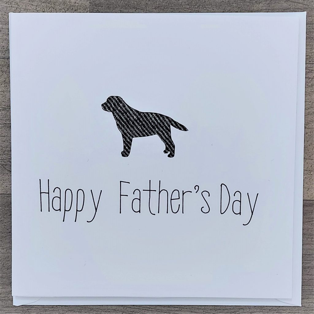 Tweed labrador fathers day card-Somerset